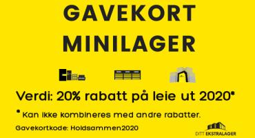 Gavekort minilager 2020